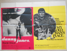Danny Jones/My Old Mans Place, Original Combo UK Quad Poster, Frank Finlay, '72